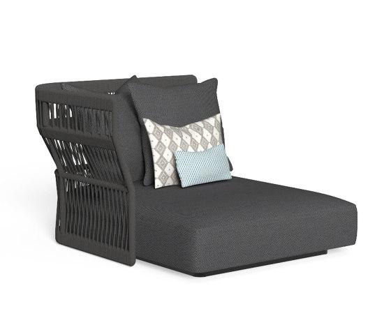 Cliff | Sofa lounge xl dx backrest rope de Talenti | Sièges modulables