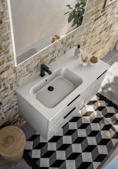 Ceramic washbasin Quadra by Berloni Bagno | Wash basins