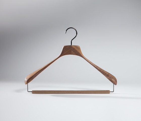 Light Design Collection - American Walnut Wood | Davide Hanger by Industrie Toscanini | Coat hangers