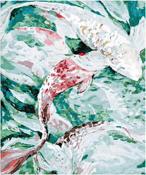 Koi Pond | Red Fish by Tapis Rouge | Rugs