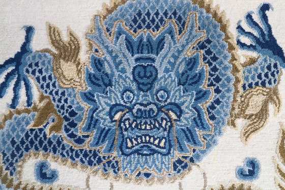 Chinoiserie | Temple Ceremony Chinese Blue by Tapis Rouge | Rugs