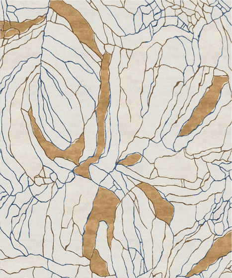 Ambiance | Craquelure Gilded Bone by Tapis Rouge | Rugs