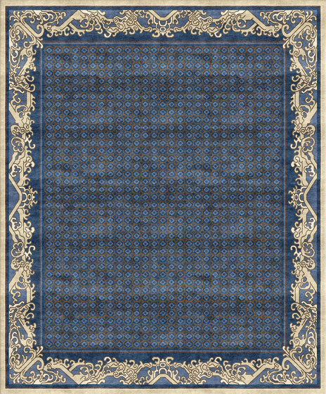 Chinoiserie | Imperial Waves Lapis by Tapis Rouge | Rugs