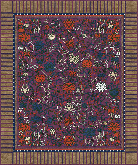 Chinoiserie   Lindgering Garden Purple by Tapis Rouge   Rugs