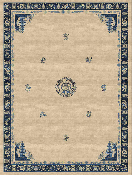 Chinoiserie | Pagoda Antique Sand by Tapis Rouge | Rugs
