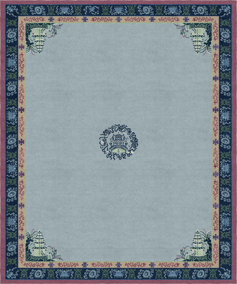 Chinoiserie   Pagoda Blue Fade by Tapis Rouge   Rugs