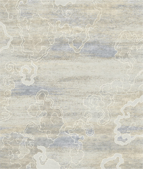 Chinoiserie | Rice Fields Silver by Tapis Rouge | Rugs