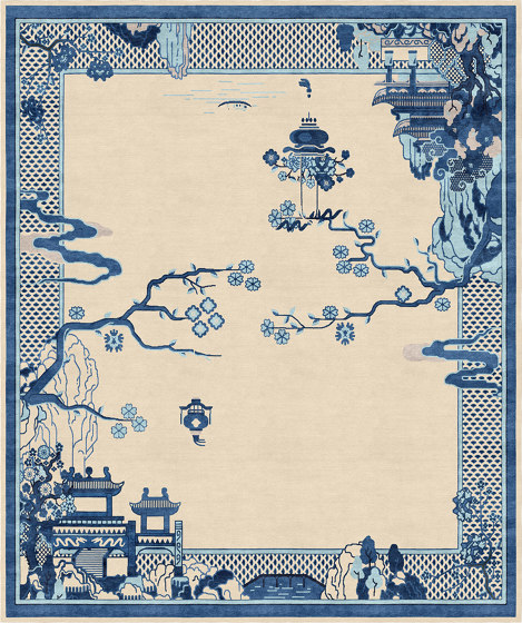 Chinoiserie | Riverhouse Antique Sand by Tapis Rouge | Rugs