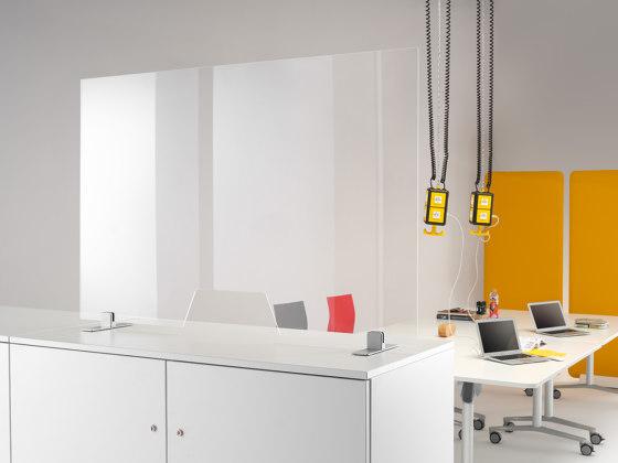 WINI Hygiene screen   Rectangular with slot by WINI Büromöbel   Table dividers