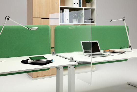 WINI Hygiene screen | L shape by WINI Büromöbel | Table dividers