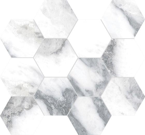 Canova Arabescato | Esagona by Rondine | Ceramic mosaics
