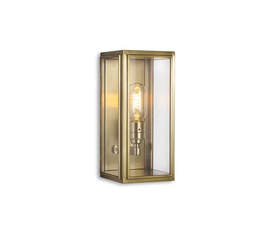 Lantern | Ash Wall Light - Small - Antique Brass & Clear Glass by J. Adams & Co | Wall lights