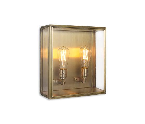 Lantern | Cedar Wall Light - Medium - Antique Brass & Clear Glass by J. Adams & Co | Wall lights