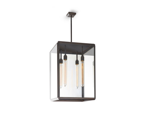 Lantern | Hazel Pendant Outdoor - Large - Bronze & Clear Glass by J. Adams & Co | Suspended lights