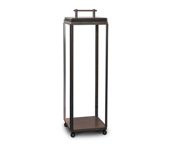 Lantern | Hazel Floor Light - Tall, Mains powered - Bronze & Clear Glass by J. Adams & Co | Floor lights