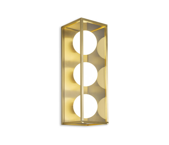Pearl | Wall Light 3 - Satin Brass by J. Adams & Co | Wall lights