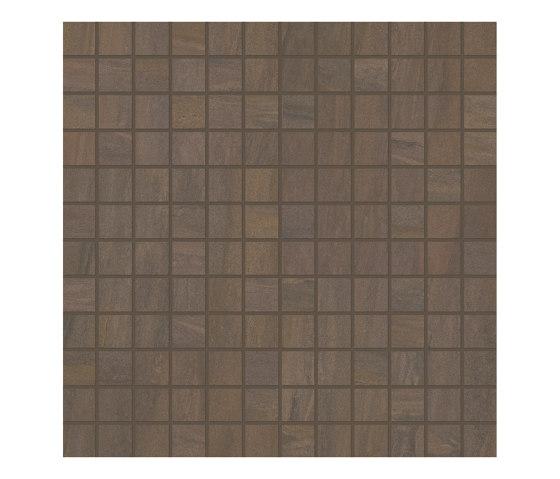Elegance Mosaico Square Mix Brown by EMILGROUP | Ceramic mosaics