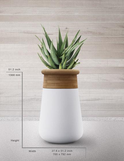 Soma L Mixed Materials by Indigenus   Plant pots