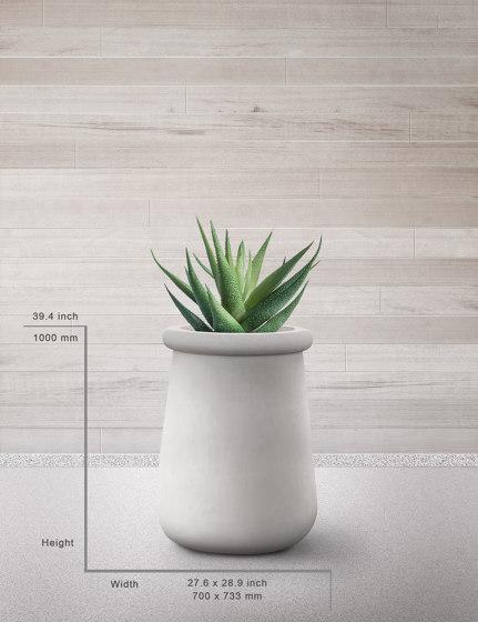 Soma M All Stone by Indigenus | Plant pots