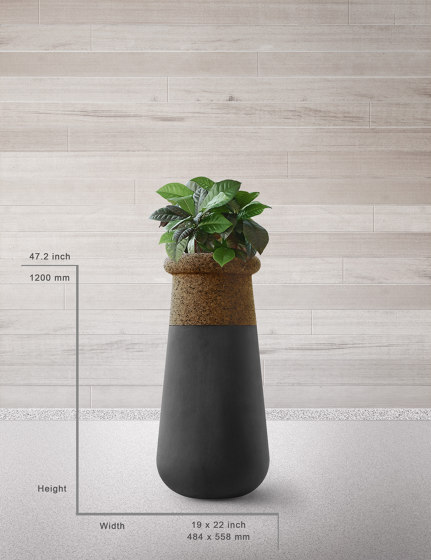 Soma Slim Mixed Materials by Indigenus | Plant pots