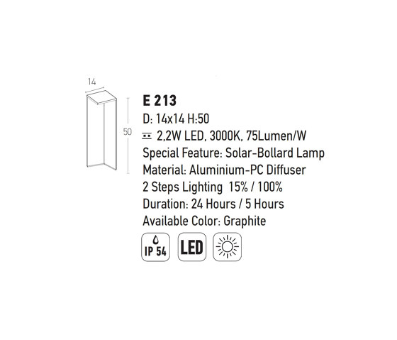 Decorative Outdoor   E213 by ALPHABET by Zambelis   Path lights