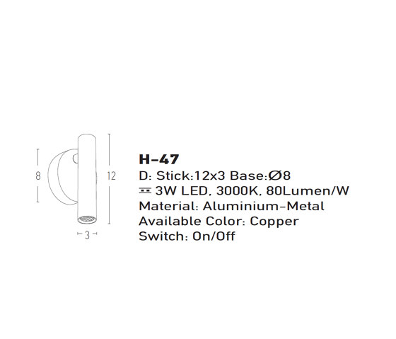 Decorative Reading   H47 by ALPHABET by Zambelis   Wall lights