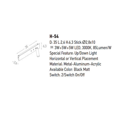 Decorative Reading   H54 by ALPHABET by Zambelis   Wall lights