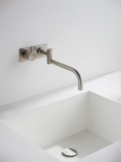 132 - One-handle build-in mixer by VOLA | Wash basin taps