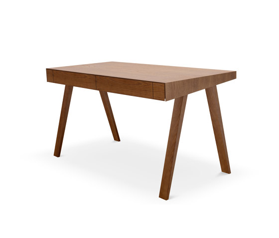 4.9 Writing Desk, 2 drawers, brown by EMKO | Desks