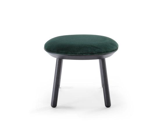 Naïve Ottoman, green, velour by EMKO | Poufs