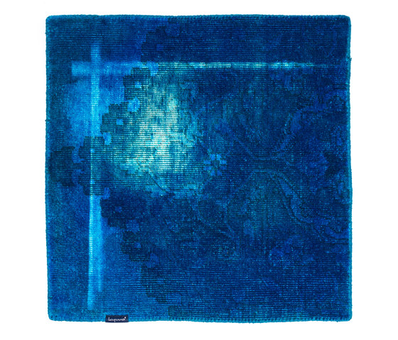 The Mashup Pure Edition Antique capri blue by kymo | Rugs