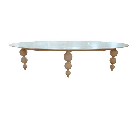 mary's design mood | Bomboulina Dining Table - marble/teak by MARY& | Dining tables