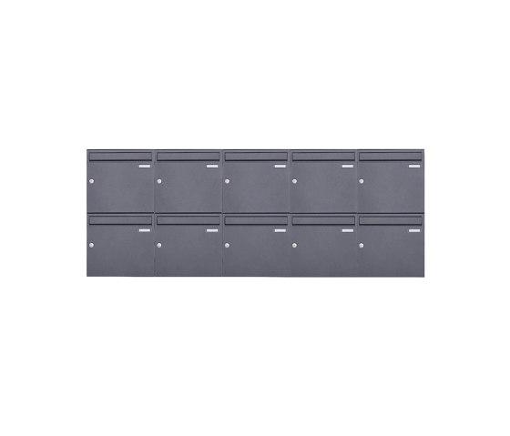 Basic   10er 2x5 Aufputz Briefkasten Design BASIC 382A AP - DB703 eisenglimmer 100mm Tiefe by Briefkasten Manufaktur   Mailboxes