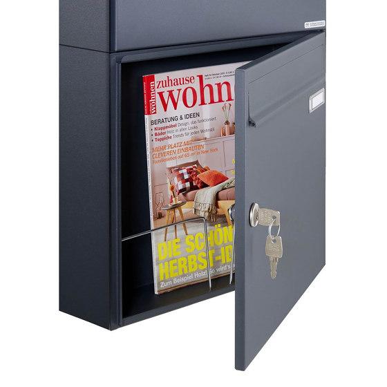 Basic | 10er 2x5 Aufputz Briefkasten Design BASIC 382A AP - RAL 7016 anthrazitgrau 100mm Tiefe by Briefkasten Manufaktur | Mailboxes