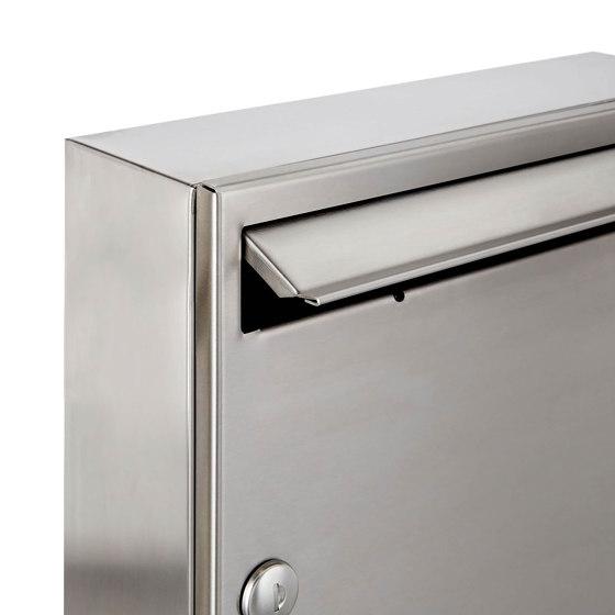 Basic | 10er 2x5 Edelstahl Aufputz Briefkastenanlage Design BASIC 382A-AP Edelstahl V2A, geschliffen 100mm Tiefe by Briefkasten Manufaktur | Mailboxes