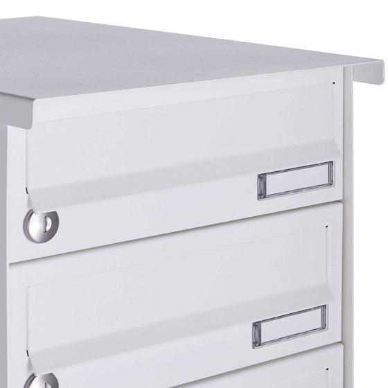 Basic   10er 5x2 Aufputz Briefkastenanlage Design BASIC 385A-9016 AP - RAL 9016 verkehrsweiß by Briefkasten Manufaktur   Mailboxes