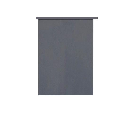 Basic | 11er 6x2 Aufputz Briefkastenanlage Design BASIC 385A AP - Edelstahl-RAL 7016 anthrazit by Briefkasten Manufaktur | Mailboxes
