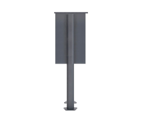 Basic | 11er Edelstahl Briefkastenanlage freistehend Design BASIC Plus 385XP ST-T - RAL nach Wahl by Briefkasten Manufaktur | Mailboxes
