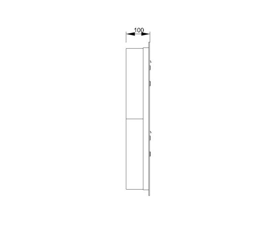 Basic | 11er Edelstahl Unterputz Briefkastenanlage BASIC 534 UP SP- mit Klingelkasten Rechts by Briefkasten Manufaktur | Mailboxes