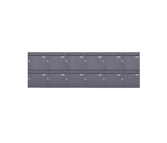 Basic   12er 2x6 Aufputz Briefkasten Design BASIC 382A AP - DB703 eisenglimmer 100mm Tiefe by Briefkasten Manufaktur   Mailboxes