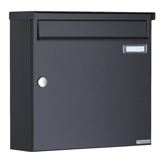 Basic   12er 4x3 Aufputz Briefkasten Design BASIC 382A AP - RAL 7016 anthrazitgrau 100mm Tiefe by Briefkasten Manufaktur   Mailboxes