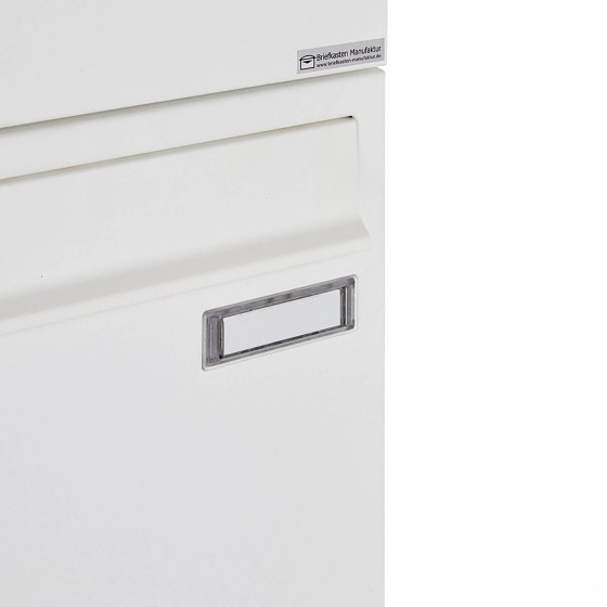 Basic   12er 4x3 Aufputz Briefkastenanlage Design BASIC 382A AP - RAL 9016 verkehrsweiß 100mm Tiefe by Briefkasten Manufaktur   Mailboxes