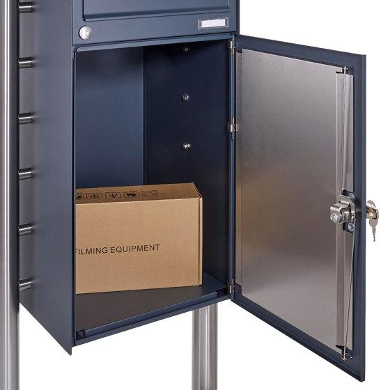 Basic   12er Briefkastenanlage freistehend BASIC 863B ST-Q - 4x Paketfach - 12x Briefkasten in RAL 7016 by Briefkasten Manufaktur   Mailboxes