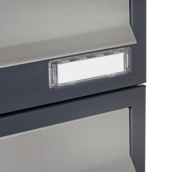 Basic   12er Briefkastenanlage freistehend Design BASIC 385P ST-T - Edelstahl-RAL 7016 anthrazitgrau by Briefkasten Manufaktur   Mailboxes