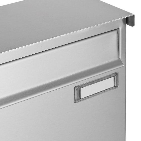 Basic   12er Edelstahl Briefkastenanlage freistehend BASIC 863B ST-Q - 4x Paketfach - 12x Briefkasten by Briefkasten Manufaktur   Mailboxes