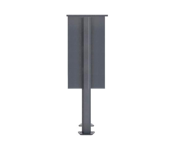 Basic | 12er Standbriefkasten Design BASIC 385P ST-T mit Klingelkasten - Edelstahl-RAL 7016 anthrazit Rechts by Briefkasten Manufaktur | Mailboxes