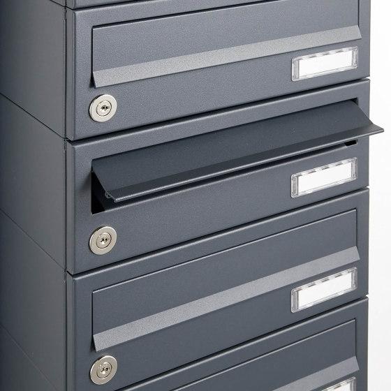 Basic | 13er 7x2 Aufputz Briefkastenanlage Design BASIC 385A AP - RAL 7016 anthrazitgrau by Briefkasten Manufaktur | Mailboxes