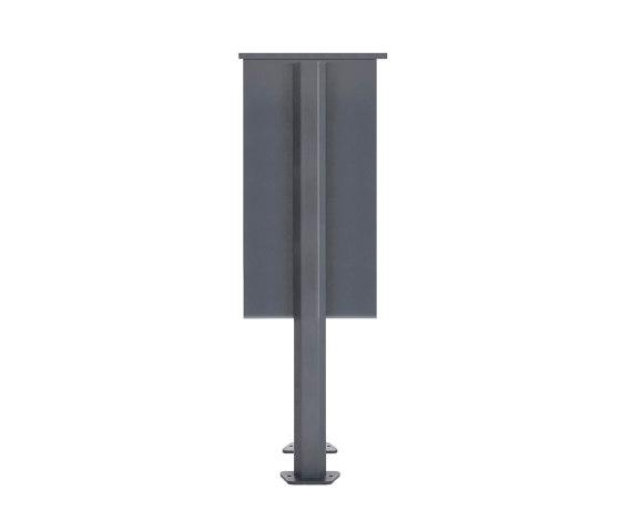 Basic   13er Standbriefkasten Design BASIC 385P ST-T mit Klingelkasten - RAL 7016 anthrazitgrau Rechts by Briefkasten Manufaktur   Mailboxes