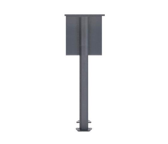 Basic | 14er 5x3 Edelstahl Briefkastenanlage freistehend Design BASIC Plus 385XP ST-T - RAL nach Wahl by Briefkasten Manufaktur | Mailboxes