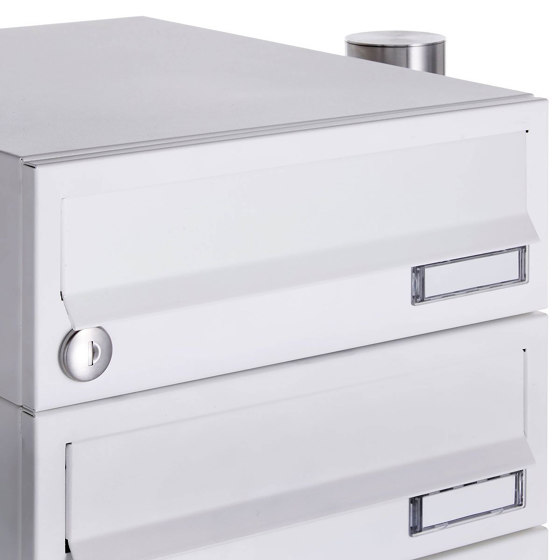 Basic | 14er 7x2 Briefkastenanlage freistehend Design BASIC 385-9016 ST-R - RAL 9016 verkehrsweiß by Briefkasten Manufaktur | Mailboxes